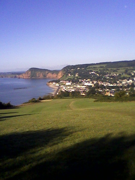 View back towards Exmouth