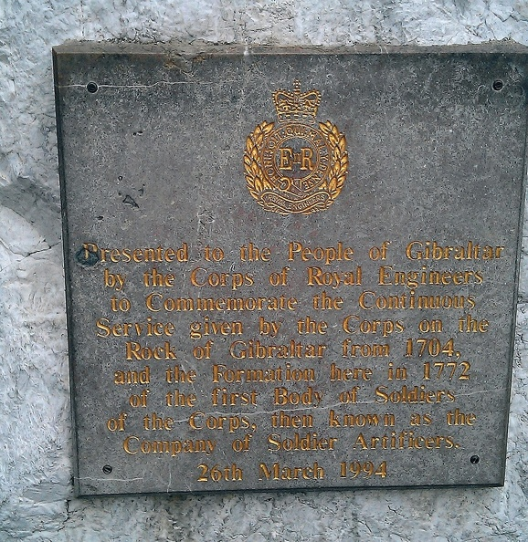 Royal Engineers Plaque