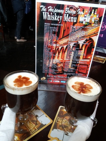 Irish coffee... in Ireland!