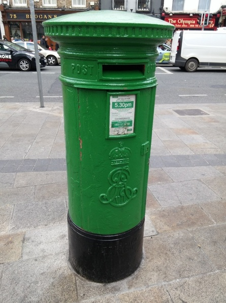 Green Pillar Box