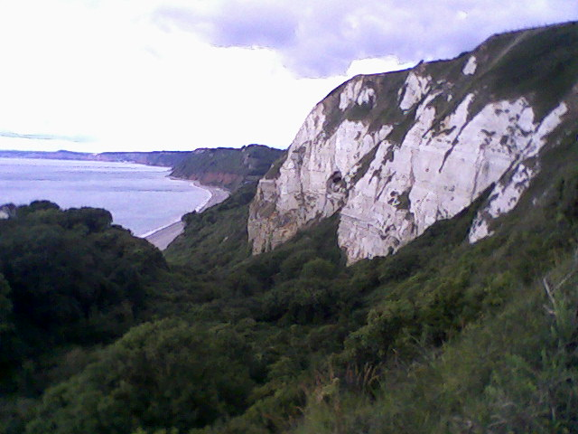 Hook Undercliff, looking back