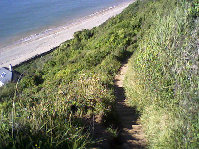 Steep path to Weston Mouth